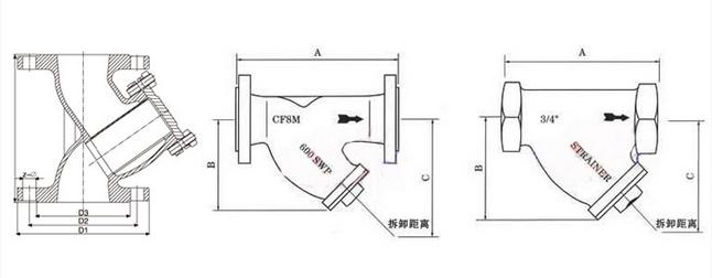 标光阀门Y型过滤器简介:   福建标光阀门生产的Y型过滤器适用行业包括建筑、化工、电力、冶金、橡胶、造纸、轻纺、煤炭、食品等行业。特别是应用在工厂循环水利用中,使之水资源最大限度的有效使用。y型过滤器是输送介质的管道系统不可缺少的一种装置,y型过滤器通常安装在减压阀、泄压阀、定水位阀或其它设备的进口端,用来清除介质中的杂质,以保护阀门及设备的正常使用。其作用是过滤介质中的机械杂质,可以对污水中的铁锈、沙粒、液体中少量固体颗粒等进行过滤以保护设备管道上的配件免受磨损和堵塞,可保护设备的正常工作。 福建标光阀